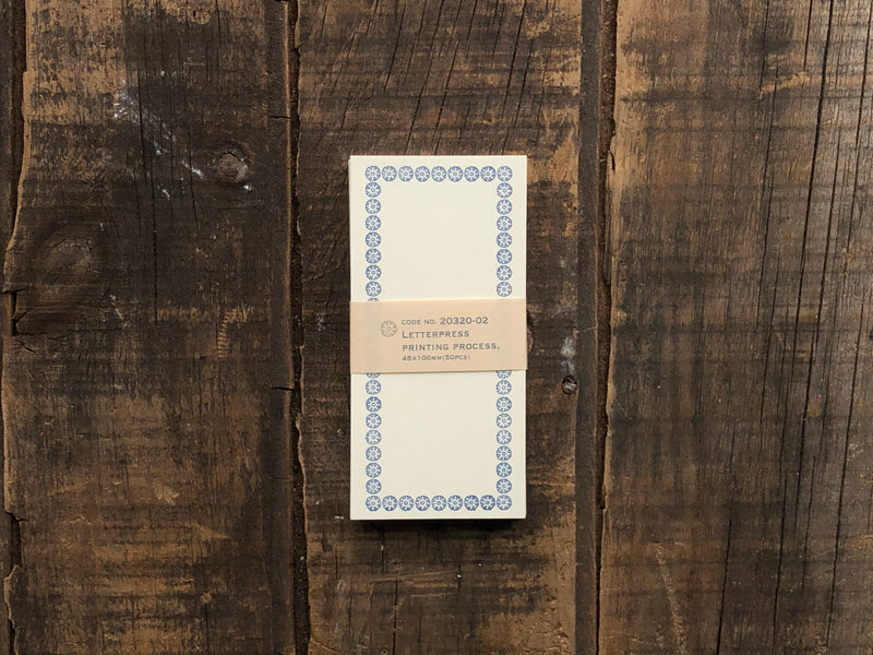 Classiky - Letterpress Memo Card - Dark Blue