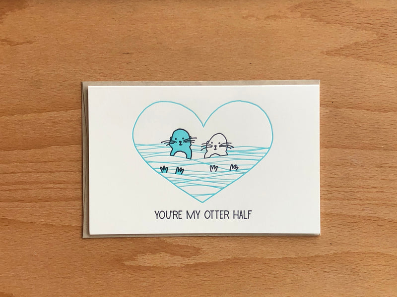 My Otter Half Greeting Card