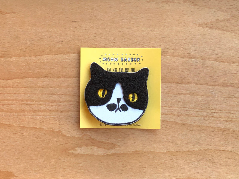 Meow Barber Pin - Mr. Mustache