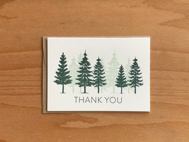 Thank You Trees Greeting Card