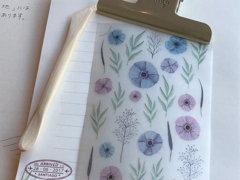 MU Print-On Stickers - Violet Florals - #14