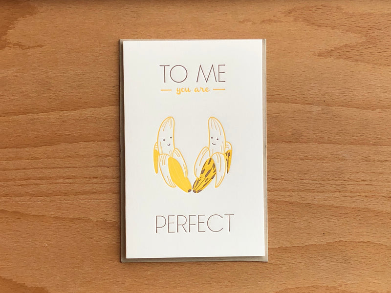 Perfect Bananas Greeting Card