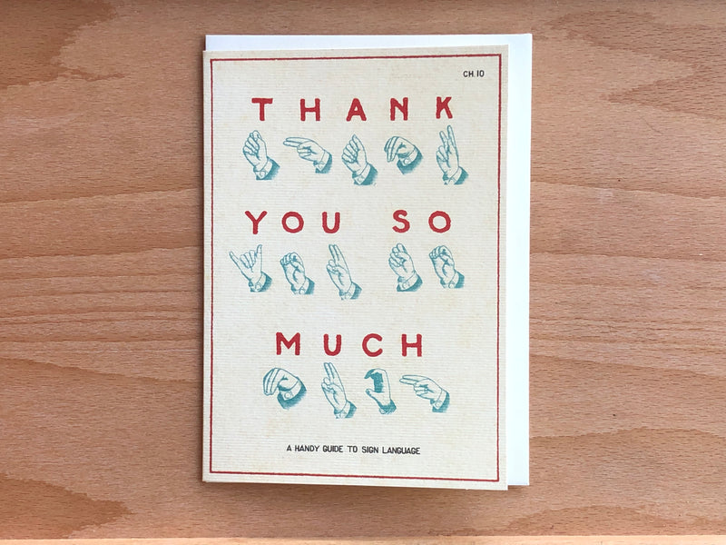 Thank You Sign Language Greeting Card