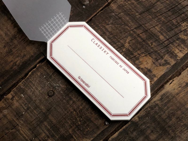 Classiky - Letterpress Water Adhesive Label Book - Red