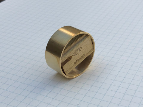 Dux Brass Pencil Sharpener - Block Single with Outer Ring