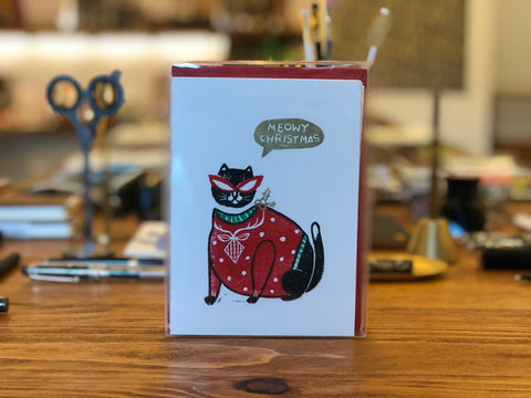 Meowy Christmas Cards - Box of 8