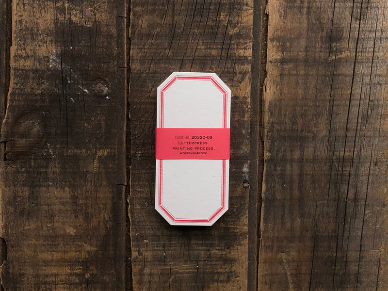 Classiky - Letterpress Label Card - Red
