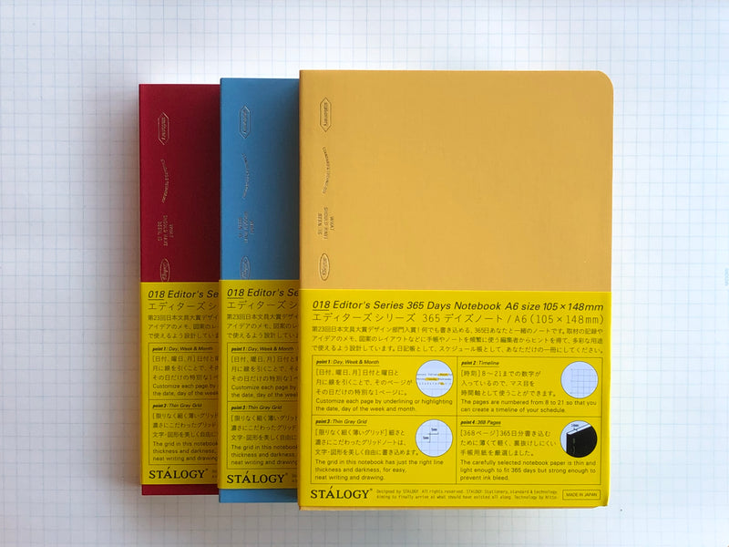 Stalogy Editor's Series 365Days Notebook - A6 - Colors