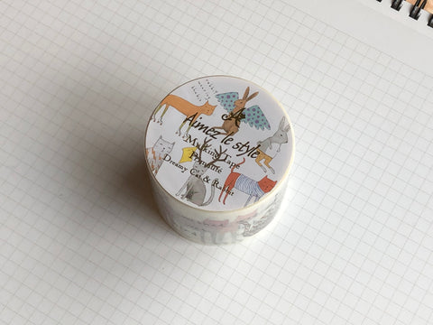 Masking Tape Washi - Dreamy Cat & Rabbit