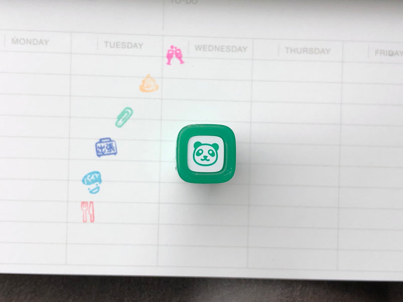 FriXion Erasable Stamp - Green - Panda