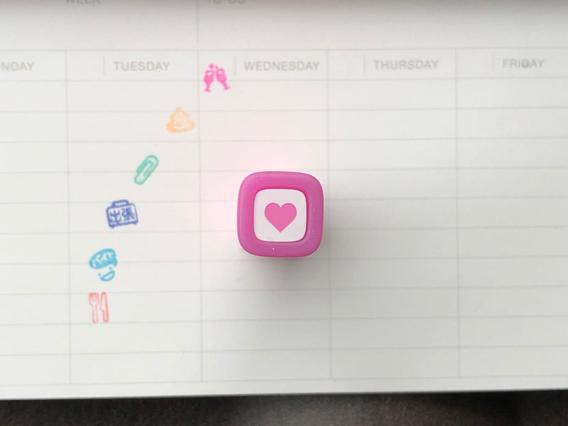 FriXion Erasable Stamp - Pink - Heart