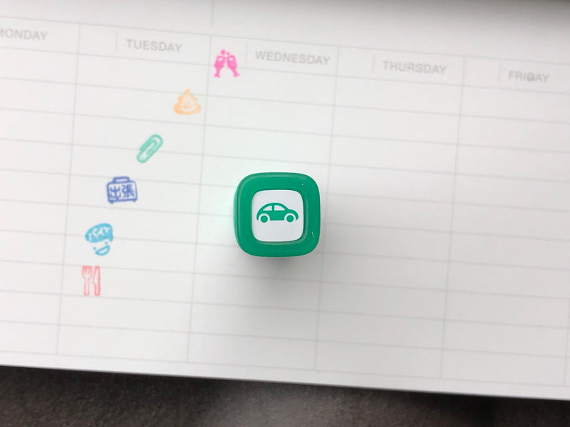 FriXion Erasable Stamp - Green - Car