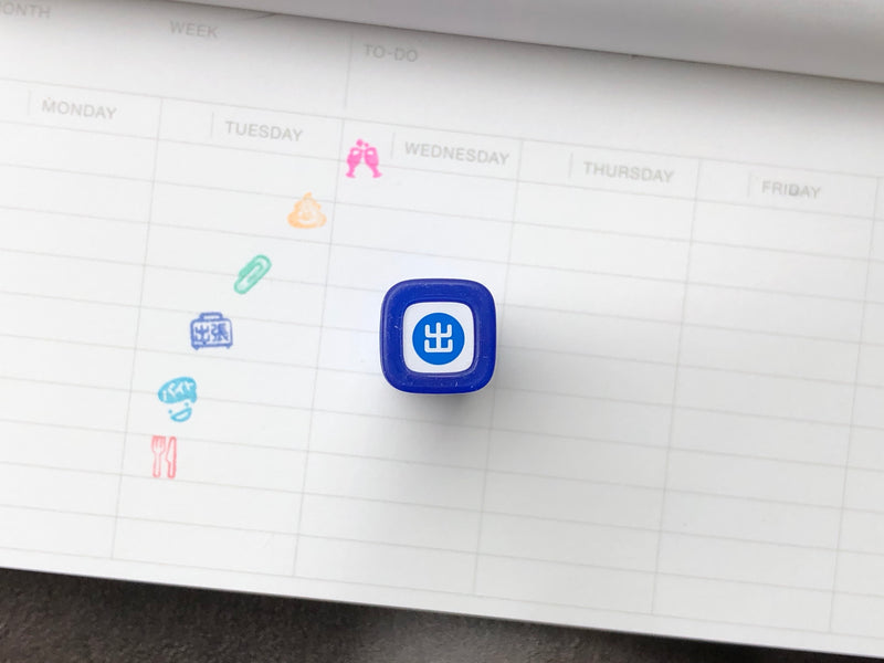 FriXion Erasable Stamp - Blue - Work Day