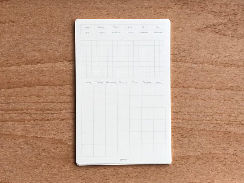 Stalogy Editor's Series Removable Seal Calendar - Small
