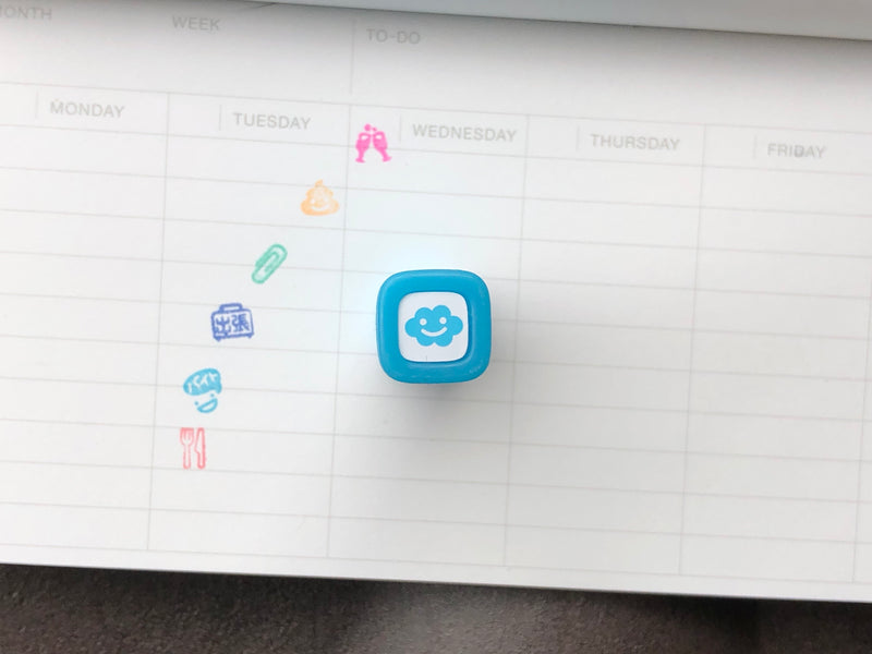 FriXion Erasable Stamp - Light Blue - Cloudy