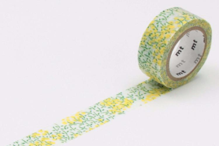mt Washi Tape - Flocky Field Mustard