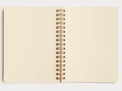 Grain Notebook - B6 - Black