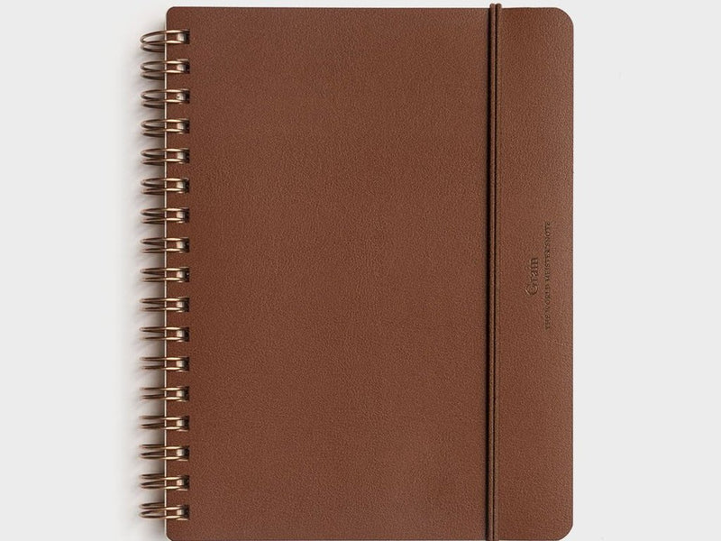 Grain Notebook - B6 - Brown