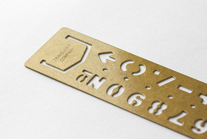 Brass Template Bookmark - Number