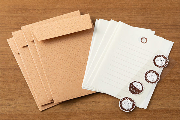 Mini Letter Set with Hedgehog Stickers