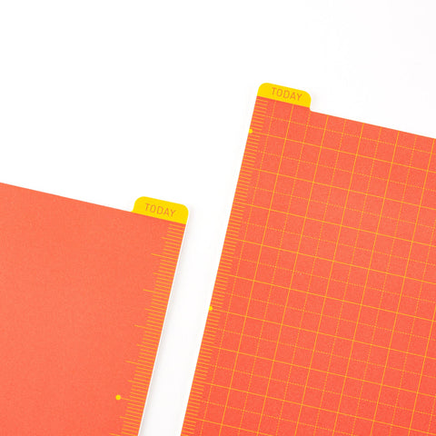 Hobonichi Pencil Board - Warm Red x Yellow