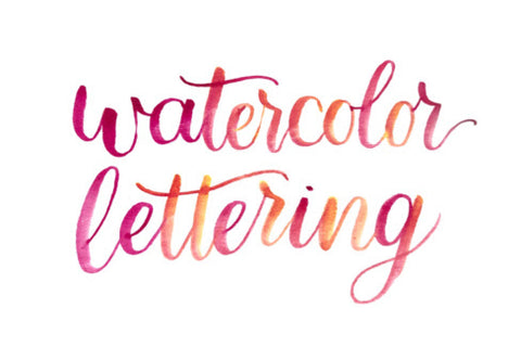 Watercolor Lettering Workshop With Sored - October 12th