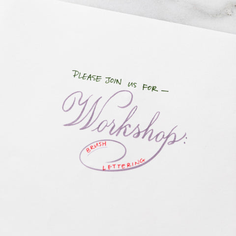 Calligraphy Workshop - 1/25 Friday Night