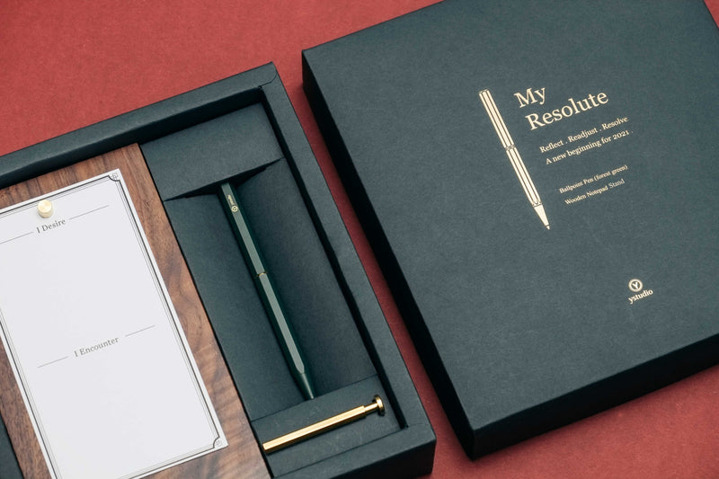 ystudio My Resolute Ballpoint Pen Gift Set