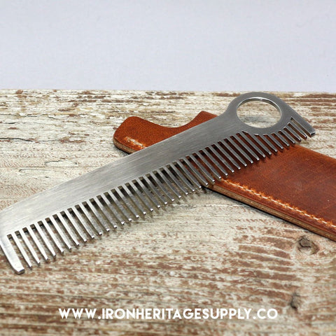 """Model No. 1 Gift Set - English Tan"" by Chicago Comb Co."