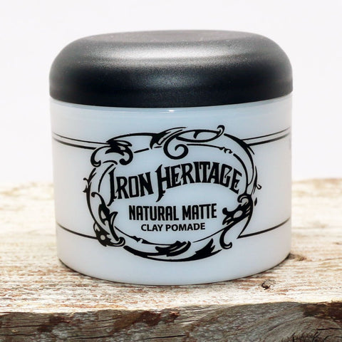 """Natural Matte Clay Pomade"" by Iron Heritage"