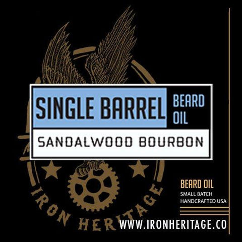 """Single Barrel"" Beard Oil by Iron Heritage"