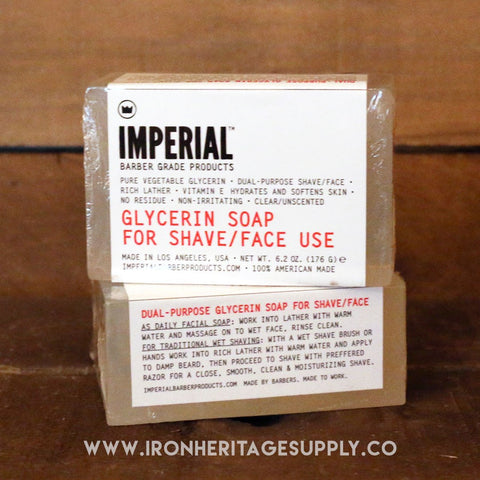 """Glycerin Shave/Face Soap Bar"" by Imperial"