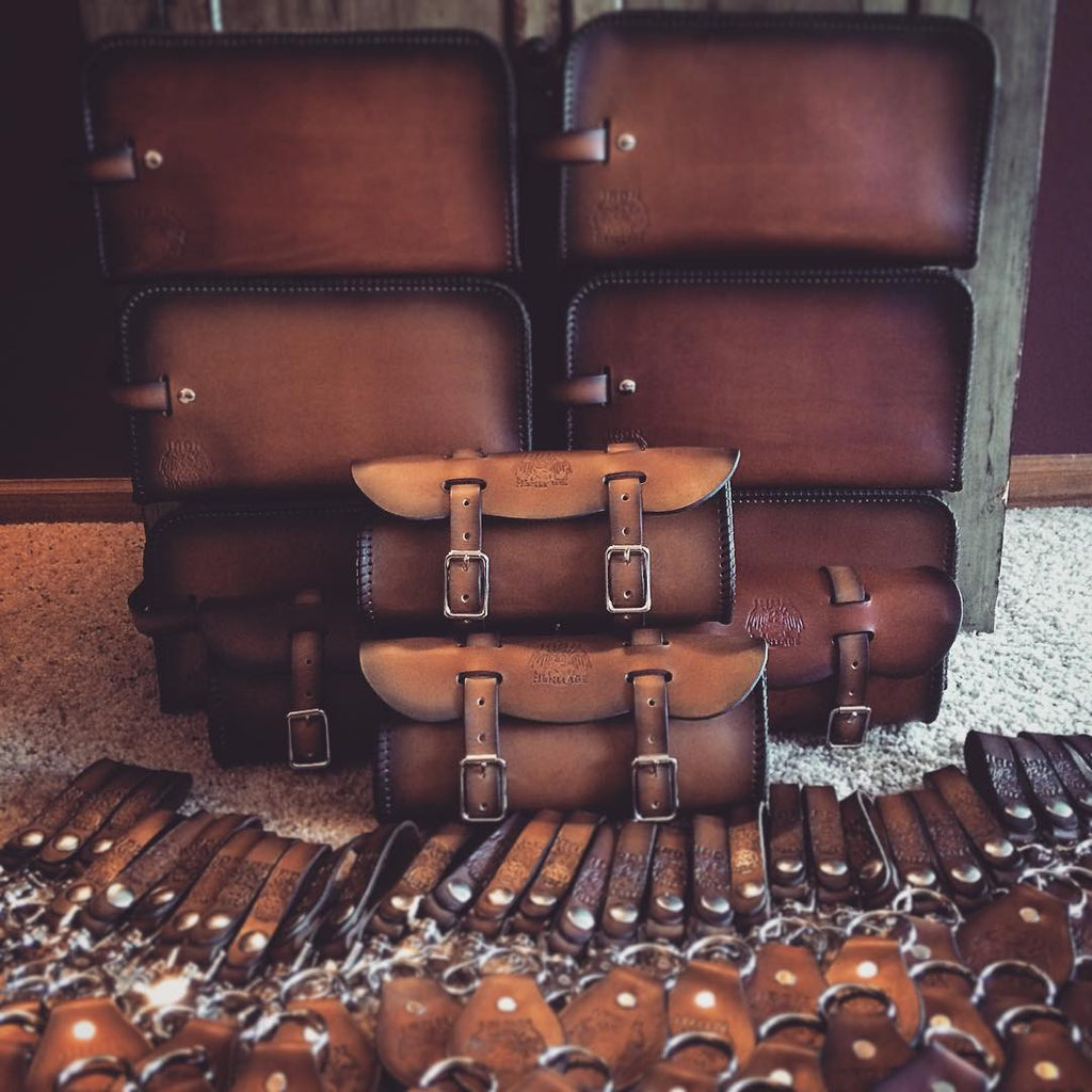 Leather Shave Kit Bag