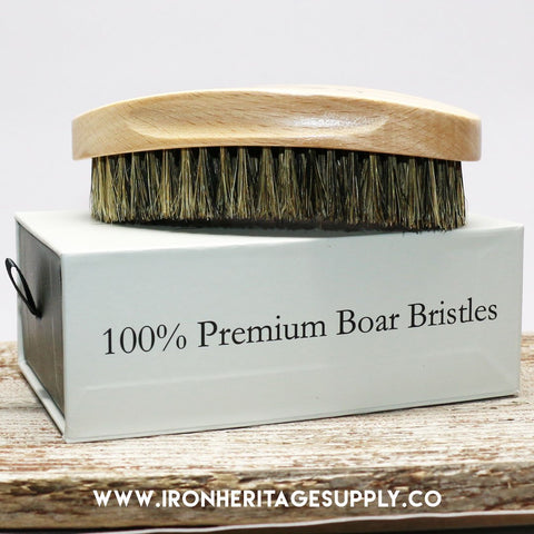 """100% Boar Bristle Beard & Hair Brush"" by Parker"