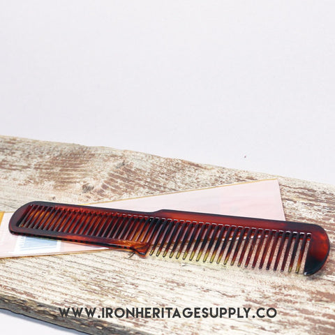 """Tortoise 7-3/4"" Flat Top Comb"" by Scalpmaster"