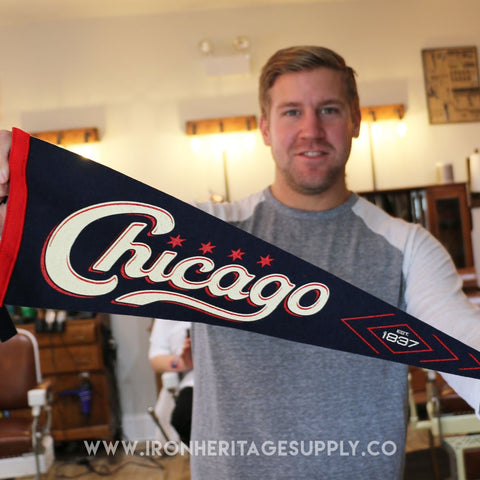 """Chicago Est 1837"" (Vintage Style) Pennant by Transit"