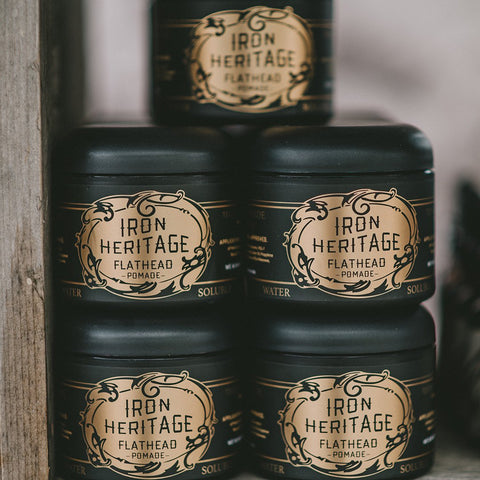 """Genuine Flathead Pomade Water Soluble"" by Iron Heritage"