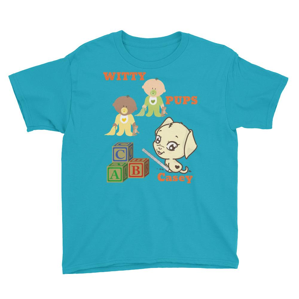 Girls Witty Pups Puppies Casey Youth Short Sleeve T-Shirt