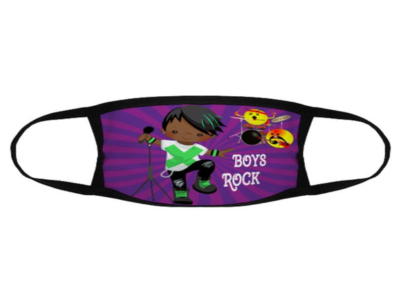 Boys Rock African American Face Mask / Woody Epps Gift Shop