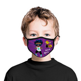 Boys Rock Blue Hair Face Mask / Woody Epps Gift Shop