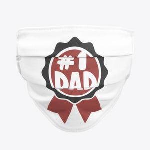 Men #1 Dad Face Mask / Woody Epps Gift Shop