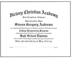 Deluxe College Preparatory Diploma #01-CP