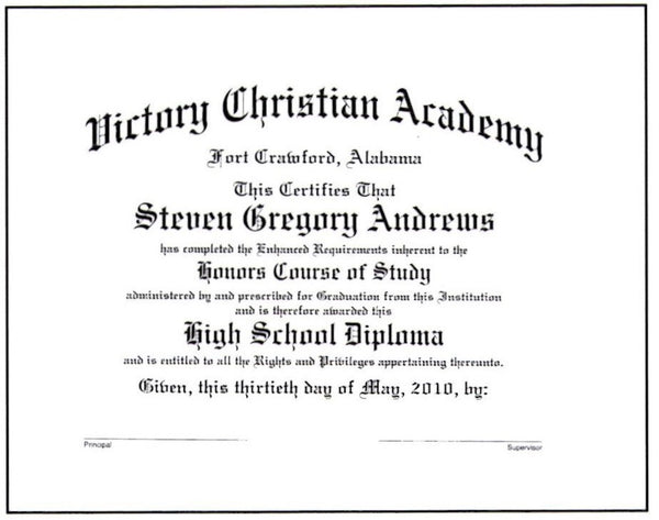 Deluxe Honors Diploma #01-H
