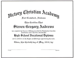 Deluxe Vocational Diploma #02