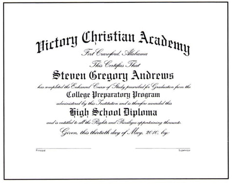 Deluxe College Preparatory Diploma #03-CP