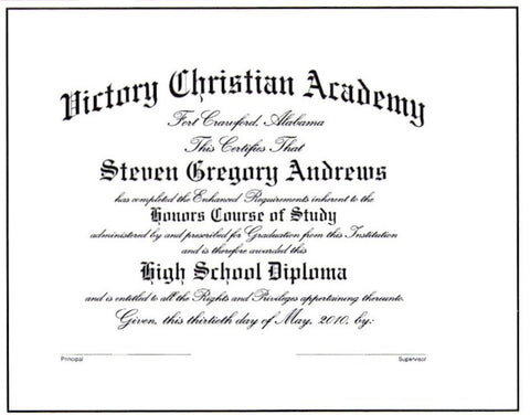 Deluxe Honors Diploma #03-H