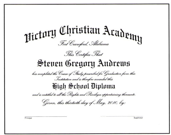 Deluxe Academic Diploma #03
