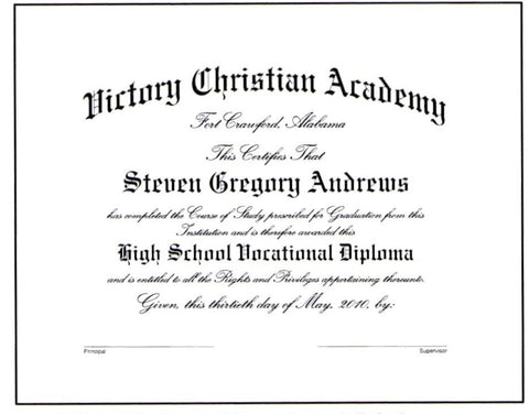 Deluxe Vocational Diploma #04
