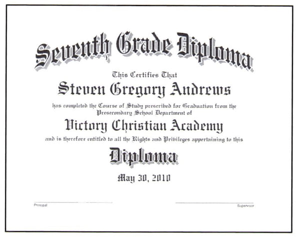 collections milligan s graduation supplies seventh grade diploma 18 07
