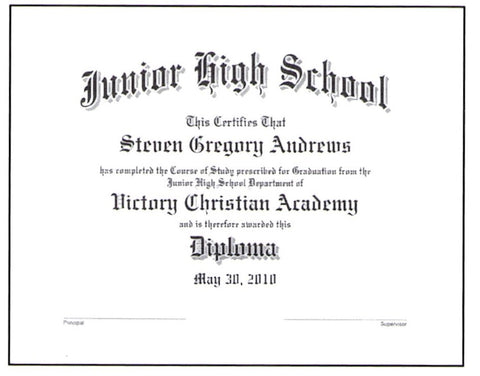 Junior High School Diploma: #20
